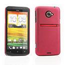 Custodia HTC EVO 4G LTE X720d Plastica Cover Rigida Guscio - Rosso