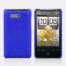 Custodia HTC HD Mini T5555 Aria G9 Rete Cover Rigida Guscio - Blu