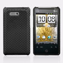 Custodia HTC HD Mini T5555 Aria G9 Rete Cover Rigida Guscio - Nero