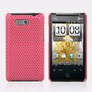 Custodia HTC HD Mini T5555 Aria G9 Rete Cover Rigida Guscio - Rosa