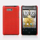 Custodia HTC HD Mini T5555 Aria G9 Rete Cover Rigida Guscio - Rosso