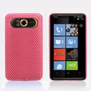 Custodia HTC HD7 T9292 Rete Cover Rigida Guscio - Rosa