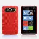 Custodia HTC HD7 T9292 Rete Cover Rigida Guscio - Rosso