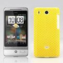 Custodia HTC Hero G3 A6262 Rete Cover Rigida Guscio - Giallo