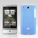 Custodia HTC Hero G3 A6262 Rete Cover Rigida Guscio - Luce Blu