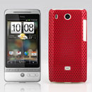 Custodia HTC Hero G3 A6262 Rete Cover Rigida Guscio - Rosso