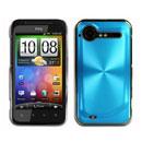 Custodia HTC Incredible S G11 S710e Alluminio Metal Plated Cover - Luce Blu