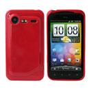 Custodia HTC Incredible S G11 S710e Silicone Case - Rosso