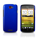 Custodia HTC One S Plastica Cover Rigida Guscio - Blu