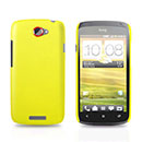 Custodia HTC One S Plastica Cover Rigida Guscio - Giallo