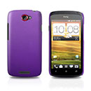 Custodia HTC One S Plastica Cover Rigida Guscio - Porpora