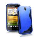 Custodia HTC One ST T528t S-Line Silicone Bumper - Blu