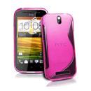 Custodia HTC One ST T528t S-Line Silicone Bumper - Fucsia