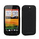 Custodia HTC One ST T528t Sabbie Mobili Cover Bumper - Nero
