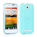 Custodia HTC One ST T528t Silicone Trasparente Case - Luce Blu