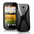 Custodia HTC One ST T528t X-Line Silicone Bumper - Nero