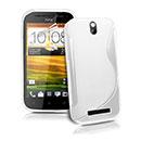 Custodia HTC One SV C525e S-Line Silicone Bumper - Bianco