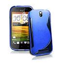 Custodia HTC One SV C525e S-Line Silicone Bumper - Blu