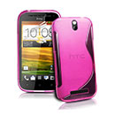 Custodia HTC One SV C525e S-Line Silicone Bumper - Fucsia