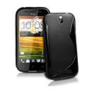Custodia HTC One SV C525e S-Line Silicone Bumper - Nero