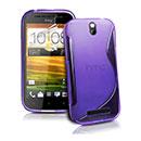 Custodia HTC One SV C525e S-Line Silicone Bumper - Porpora