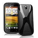 Custodia HTC One SV C525e X-Line Silicone Bumper - Nero
