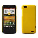 Custodia HTC One V Plastica Cover Rigida Guscio - Giallo