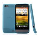 Custodia HTC One V Silicone Trasparente Case - Luce Blu