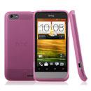 Custodia HTC One V Silicone Trasparente Case - Rosa