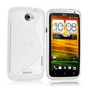 Custodia HTC One X S-Line Silicone Bumper - Bianco
