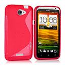 Custodia HTC One X S-Line Silicone Bumper - Fucsia