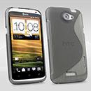 Custodia HTC One X S-Line Silicone Bumper - Grigio