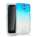 Custodia HTC One X Sfumatura Cover Bumper - Luce Blu