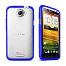 Custodia HTC One X Silicone Trasparente Gel - Blu