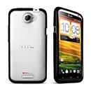 Custodia HTC One X Silicone Trasparente Gel - Nero