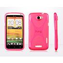 Custodia HTC One X X-Line Silicone Bumper - Fucsia