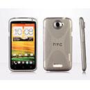 Custodia HTC One X X-Line Silicone Bumper - Grigio