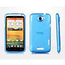 Custodia HTC One X X-Line Silicone Bumper - Luce Blu