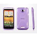 Custodia HTC One X X-Line Silicone Bumper - Porpora