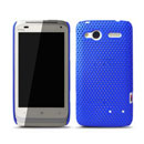 Custodia HTC Radar C110e Rete Cover Rigida Guscio - Blu