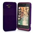 Custodia HTC Rhyme S510b G20 Rete Cover Rigida Guscio - Porpora