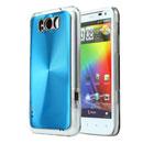 Custodia HTC Sensation XL X315e G21 Alluminio Metal Plated Cover - Blu