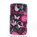Custodia HTC Sensation XL X315e G21 Farfalla Silicone Gel Case - Blu