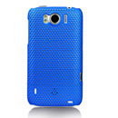 Custodia HTC Sensation XL X315e G21 Rete Cover Rigida Guscio - Blu