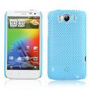 Custodia HTC Sensation XL X315e G21 Rete Cover Rigida Guscio - Luce Blu