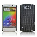 Custodia HTC Sensation XL X315e G21 Rete Cover Rigida Guscio - Nero