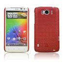 Custodia HTC Sensation XL X315e G21 Rete Cover Rigida Guscio - Rosso