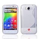 Custodia HTC Sensation XL X315e G21 S-Line Silicone Bumper - Bianco