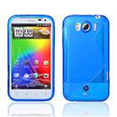 Custodia HTC Sensation XL X315e G21 S-Line Silicone Bumper - Blu