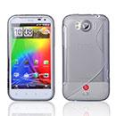 Custodia HTC Sensation XL X315e G21 S-Line Silicone Bumper - Grigio
